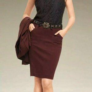 CAbi #3582 Boss Pencil Skirt Maroon Burgundy